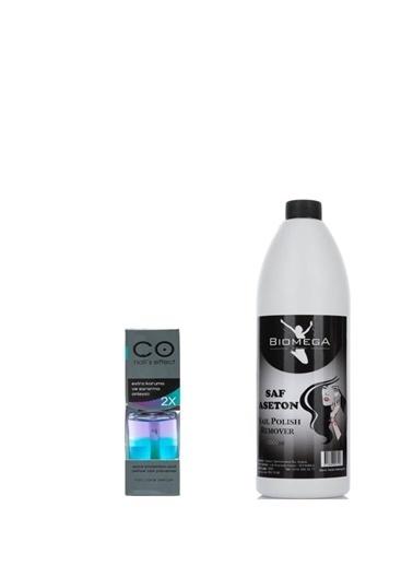 Co Nail's Effect Co Nail'S Effect Sararma Önleyici 2 Kat Etkili 12 Ml+Biomega Saf Aseton 1000 Ml Renksiz